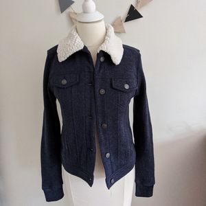 Abercrombie & Fitch Navy Sherpa Lined Jacket S